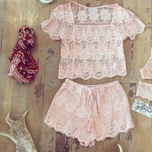 Arnhem Lace Shorts Set M